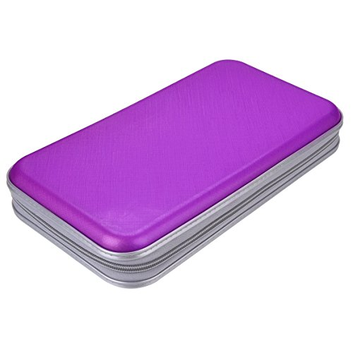 Preisvergleich Produktbild Tinksky Transportbox für DVDs/CDs, Hartplastik, hartes Plastik, Schutz für DVDs/CDs, Aufbewahrung Violett