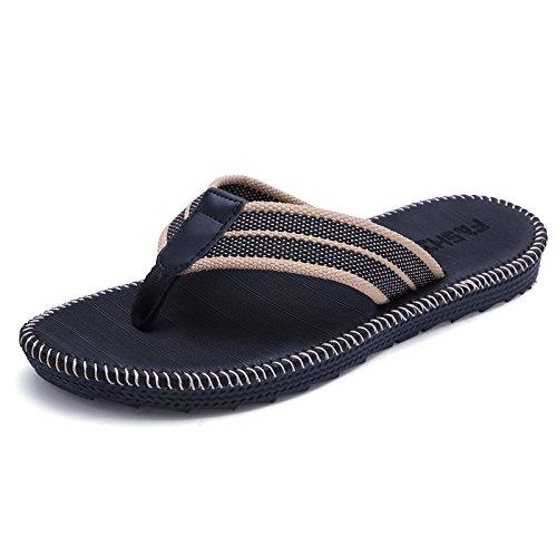 tongs hommes, sandales pour hommes d'été de plage, des tongs et des pantoufles Black