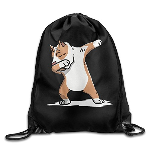 Funny&shirt Dabbing Pit Bull Dog Drawstring Backpack Beam Mouth Sports Sackpack Shoulder Bags For Men And Women - Big Dog Pit Bull