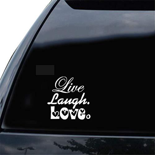 Auto Tattoo Aufkleber Gelb 14Cmx14Cm Kreative Live Laugh Love Font Combinational Auto Aufkleber Aufkleber für Auto Laptop Fenster Aufkleber