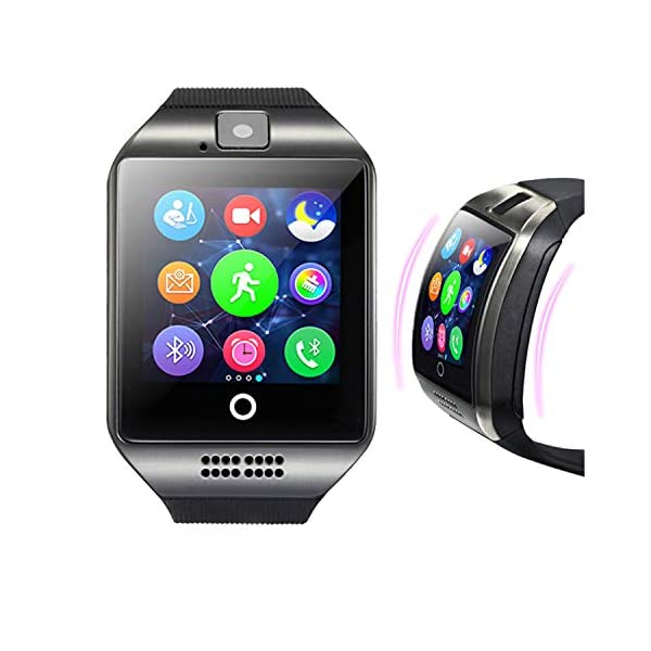 Android Smartwatch Maegoo Bluetooth Smart Watch With SIMTF Card Slot Smartwatch 154 Inches With Remote Camera Pedometer Functions For Android Smartphone Samsung Huawei Sony Black