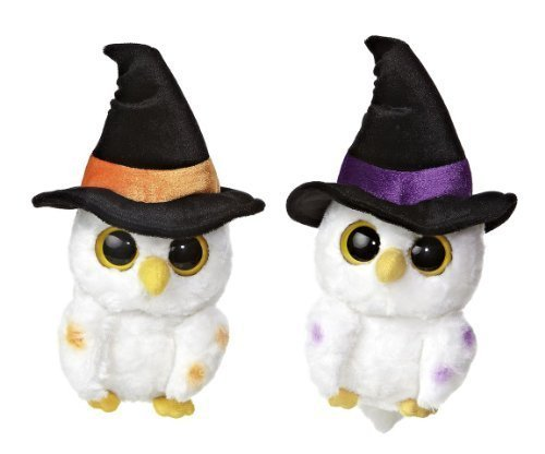 aurora-halloween-owls-pidwee-midnight-black-orange-and-purple-witch-hat-yoo-hoo-5-set-of-2-by-yoohoo