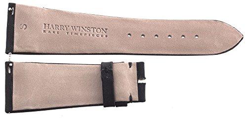 Harry Winston echtes schwarz Satin Uhrenarmband 23mm x 18mm
