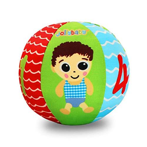 Baby-Handgriff-Ball-Kind-Sichtübung-Stütze-Säuglingsbaumwolltuch-Bildungs-Spielwaren