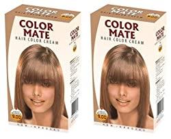 Color Mate Hair Color Cream - Light Blonde 130 ML (Pack of 2)
