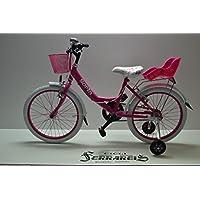 Cicli Ferrareis Bici DA Bambina Venere 20 1V 5 Anni Fucsia E Bianco