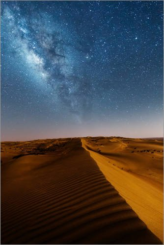 poster-80-x-120-cm-milky-way-over-dunes-oman-di-matteo-colombo-stampa-artistica-professionale-nuovo-