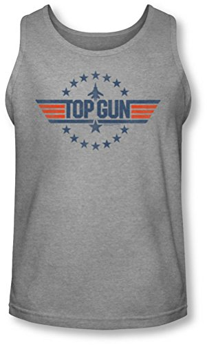 Top Gun - Herren-Stern-Logo Tank-Top Heather