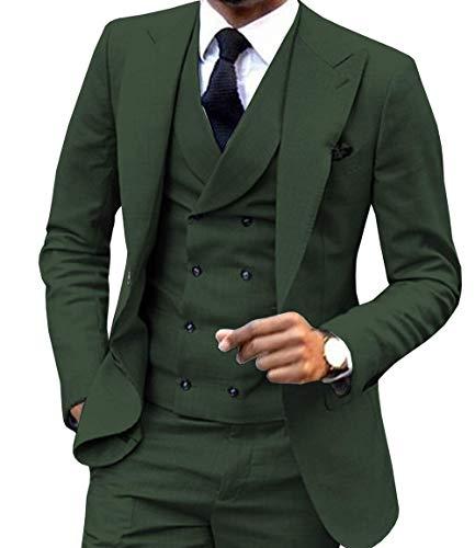 FRANK Herren Anzug 3 Stück Revers Männer Hochzeit Trauzeuge Rauchen
