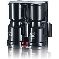 Severin KA 5828 Duo-Kaffeeautomat mit Thermokannen (800 Watt, Edelstahl) schwarz
