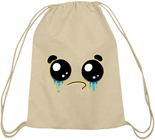 Lustiger Cartoon Emoji natur Turnbeutel mit Funny Faces - Crying Motiv Natur