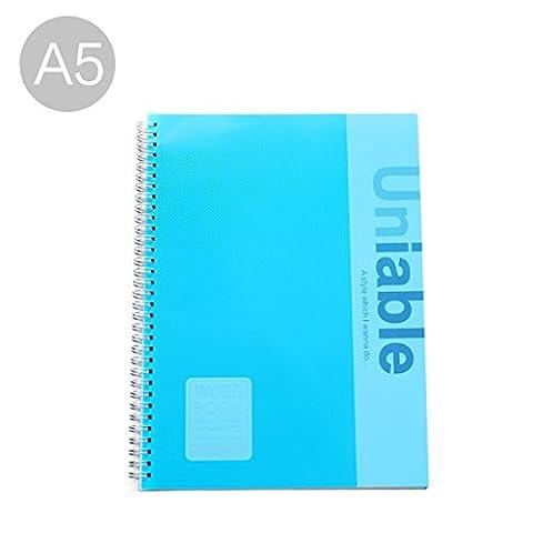 A5liniert gefüttert Kunststoff, gebundenen Buches Universal side-spiral Notebook A5-blue