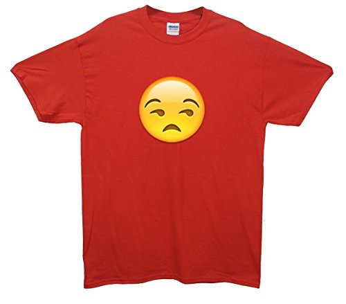 Unimpressed Face Emoji T-Shirt Rot