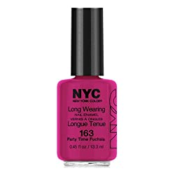 (3 Pack) NYC Long Wearing Nail Enamel - Party Time Fuschia