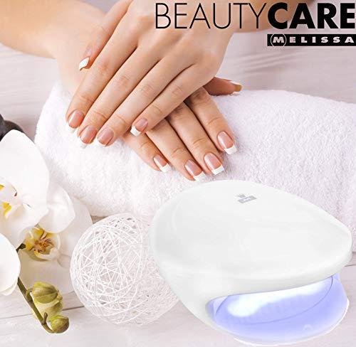 Melissa 16720008 UV Nageltrockner, Batteriebetrieb, weiß, UV Licht und Gebläse -