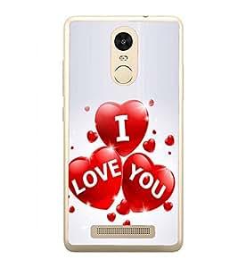I Love You 2D Hard Polycarbonate Designer Back Case Cover for Xiaomi Redmi Note 3 :: Xiaomi Redmi Note 3 Pro :: Xiaomi Redmi Note 3 MediaTek