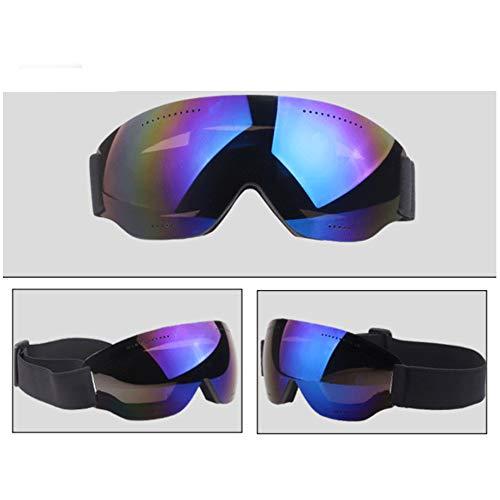 ZZDJA Skibrillen, Einstöckige Skibrillen Mit Winddichten Spiegelgläsern Für Erwachsene Zum Skifahren, Snowboarden, Schneemobile Und Anderen Wintersportarten,Blue