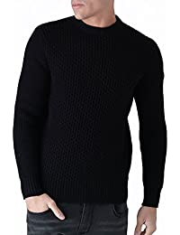 Duck and Cover Mens Mens Beam Jumper In Black - L