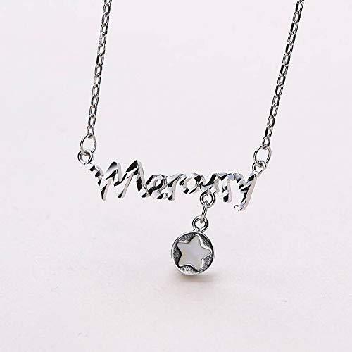 Thumby Frauen 925 Silber Halskette S925 Sterling Silber Silber Dropper Set Kette Mode Silber Halskette, 925 Silber - Dropper-tipp