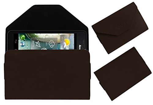 Acm Premium Pouch Case For Lenovo P770 Flip Flap Cover Holder Brown  available at amazon for Rs.389