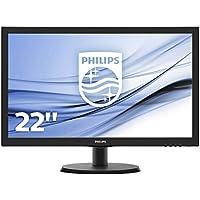 Philips 223V5LHSB 54,6 cm (21,5 Zoll) Monitor (VGA, HDMI, 1920 x 1080, 60Hz, 5ms Reaktionszeit Reaktionszeit) schwarz