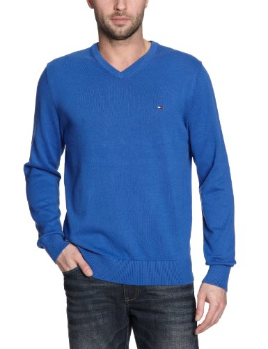 TOMMY HILFIGER - Maglia Uomo con scollo a V PACIFIC - Blu (422 Vence Blue), M