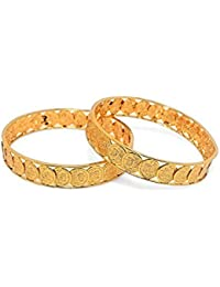 Shining Diva Artificial Jewellery Gold Plated Bangles For Women (Set Of 2)
