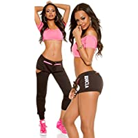 XL Workout Fitness Sporthose Hot Pants Its Up2U Gr KouCla 2in1 Sweat Pants Shorts S