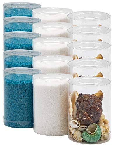 Dekovita 2kg Arena Decorativa con Conchas de Mar Conjunto Granulada de Color 1-4mm Turquesa Blanco