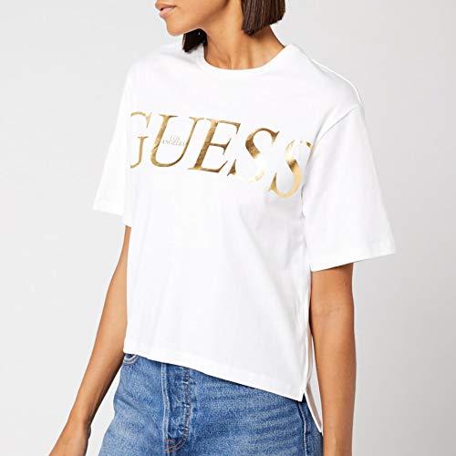 Guess Boxy T-Shirts & Poloshirts Femmes Weiss/Gold - M - T-Shirts