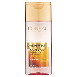 Loreal Age Perfect Refreshing Toner Smoothing And Anti-Fatigue for Mature Skin 200 mL (Pack of 2) with Free Ayur Soap