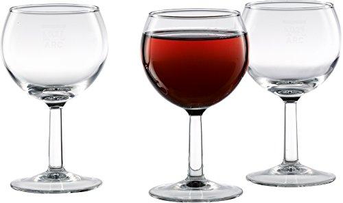 18 x 0,25 l Weinglas/Weinkelch / Beistellglas/Wasserglas / Rotweinglas, klar | Füllstrich bei 0,2 l
