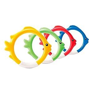 Intex 55507 - Juego acuático Aros 4 colores