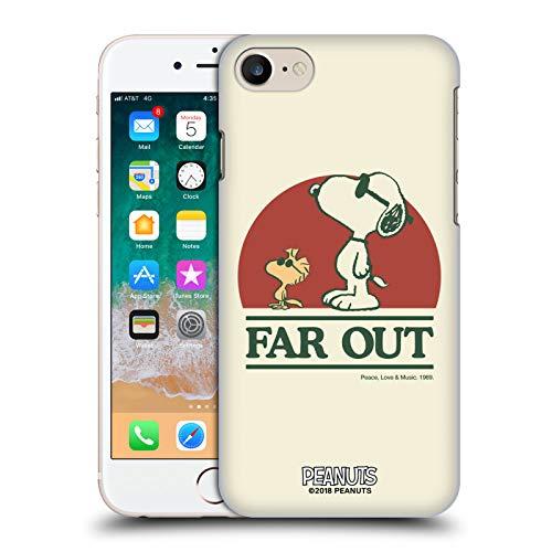 Head Case Designs Ufficiale Peanuts Snoopy Woodstock Far out Woodstock 50th Cover Retro Rigida per iPhone 7 / iPhone 8