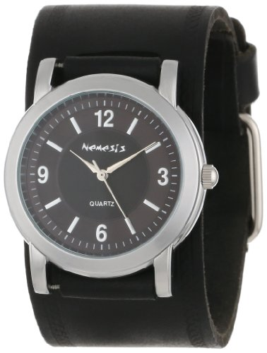 Nemesis Men's HST094KK Black Collection Retro Dual Tone Watch