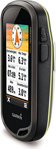 """Garmin Oregon 600t GPS Portatile, Schermo 3"""" Touch, Mappa Topografica Europea, Altimetro e Bussola Elettronica, Grigio/Nero/Verde"""