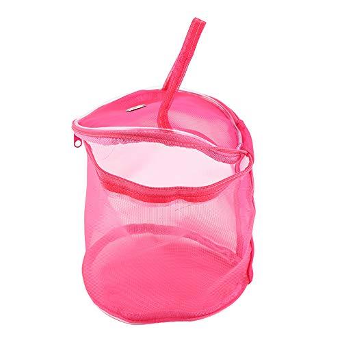 Mesh-wolle-garn (Fdit Tragbare Aufbewahrungstasche Zylinder Mesh Wolle Garn Exquisite Container Handtasche(rosarot))