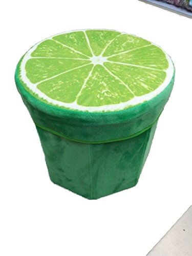 JYSPORT Faltbarer Sitzhocker Ottomans Frucht Sitzbank Fußbank Aufbewahrungsbox spielzeugkisten (Lime)
