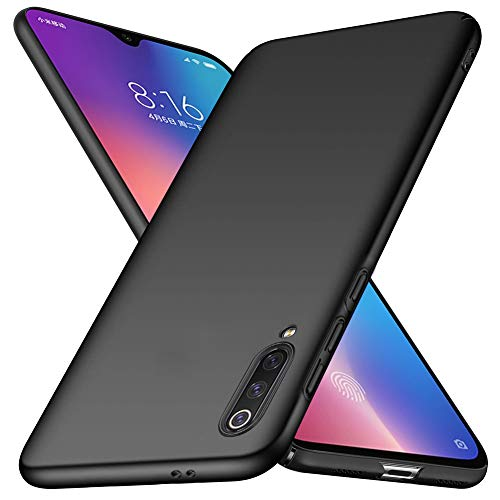 TopACE Cover for Xiaomi Mi 9 SE Protective Hard PC Case Ultra Thin PC Fall Protection Finish Simple Design Quality sensation for Xiaomi Mi 9 SE – Black