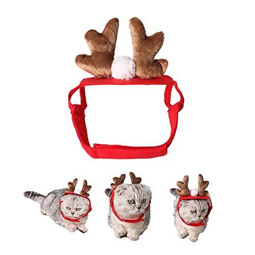our Pet A New Toy Pet Dog Cat Cap Hirsch Geweih Stirnband Weihnachten Party Urlaub Kopfbedeckung Hut Geschenk ()