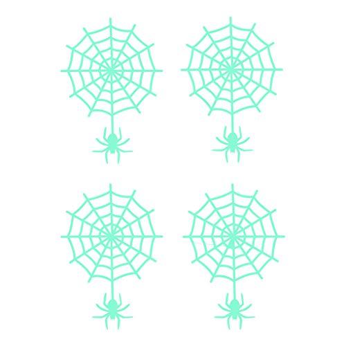 Kakiyi Halloween-Party-Thema-Wand-Aufkleber Environmentally Friendly Spinnen-Netz-Abziehbilder glühender Dekor