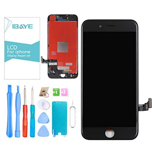 ibaye display lcd touch screen per iphone 8 nero (4,7 pollici) vetro schermo frame kit smontaggio trasformazione completo di ricambio