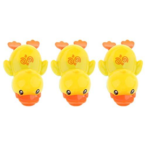 B Baosity Kleine Enten Schwimmende Gelbe Enten Bad Spielzeug für Baby-Dusche, 3er Pack - Gelbe Badewanne Ente
