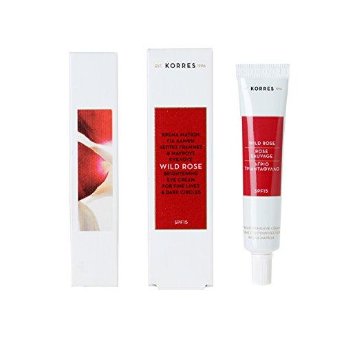 Korres - Crème contour des yeux - SPF 15 - Rose sauvage - 15 ml