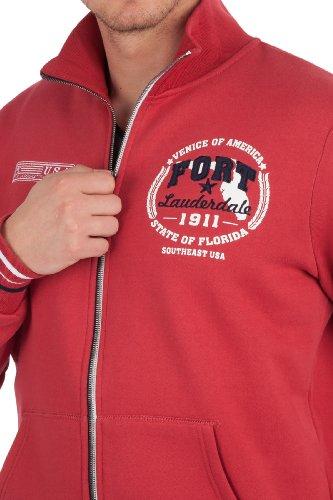 Ultrasport Herren Sweatjacke Tampa Rot