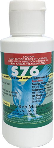 S76 100ml Air Sac Mite Bird Mites Red Mite Worms Wormer Lice In Water Treatment for All Birds Finches Budgies Canaries Poultry