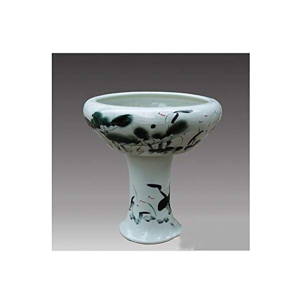 KPPTO Ceramic Ornaments, Lotus Aquarium, Aquarium With Pedestal, Creative, Eco, Fashion excellent texture (Color : Lotus…