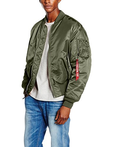 Alpha Industries Herren Jacken MA-1, Grau (rep.green 04), XXXX-Large -