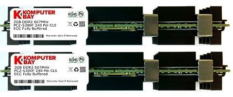 Komputerbay 4 Go (2X2GB) à 667 MHz PC2-5300 DDR2 ECC ENREGISTRÉ FBDIMM Apple Mac Pro module de