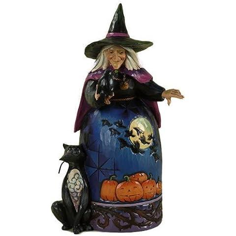 Enesco 4027793 Jim Shore Heartwood Creek Halloween Witch with Crow Figurine, 9-1/2-Inch by Enesco (Halloween Jim Shore)
